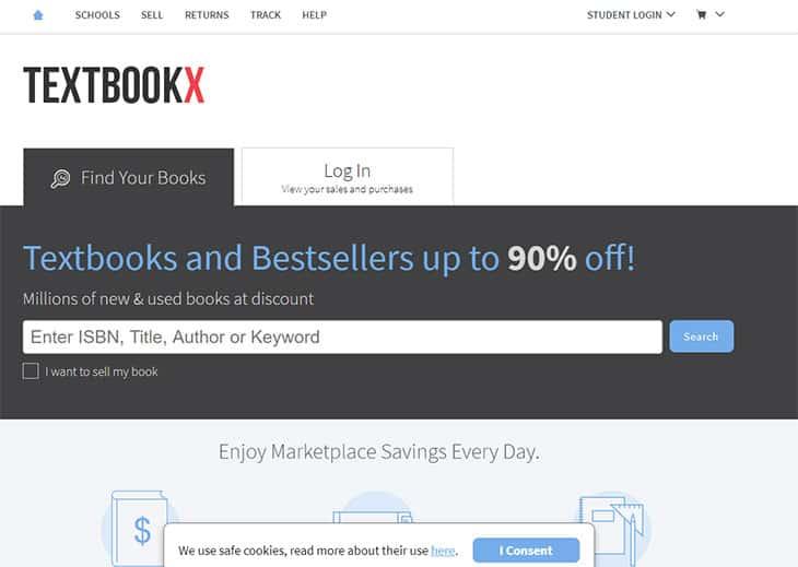 Textbookx college textbook rental
