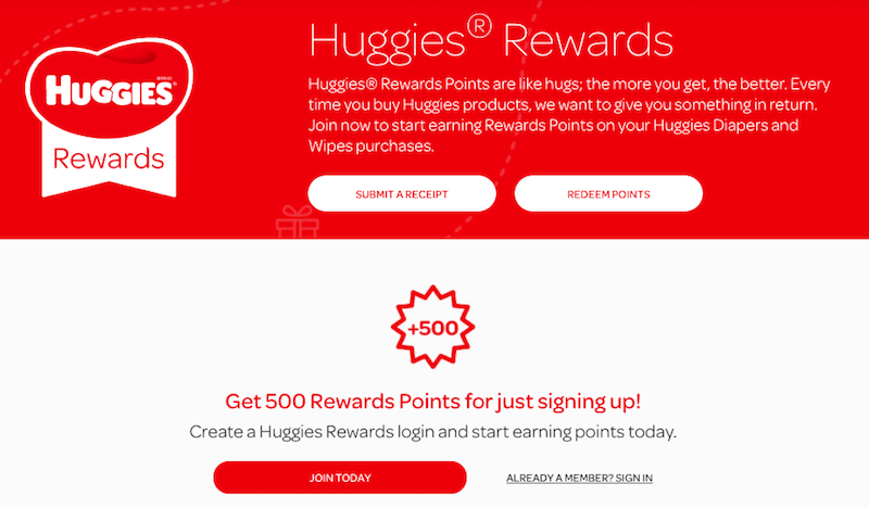 Huggies Rewards Program